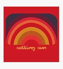 FAMOUSLY RARE Chemical Brothers - Setting Sun original logo Photographic Print