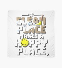 A Clean Place, A Happy Place Cleaning Obsessed T shirt  Scarf