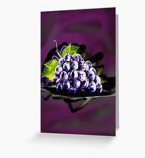 Evil Grapes Greeting Card