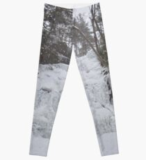 Snowstorm at Ganoga Leggings