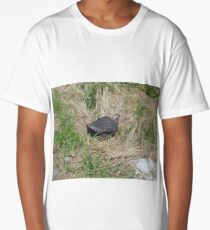 Black Suitcase Lost in the Field Long T-Shirt