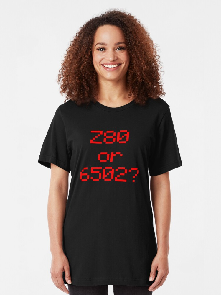 Z80 or 6502? | Slim Fit T-Shirt