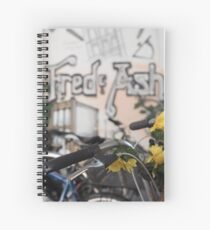 Street art and pushbikes  Spiral Notebook