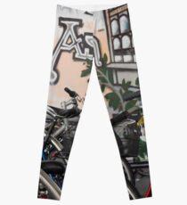 Street Art and Bicycles Leggings