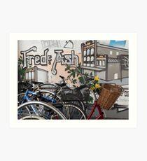 Street Art and Bicycles Art Print