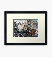 Street Art and Bicycles Framed Print