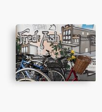 Street Art and Bicycles Canvas Print