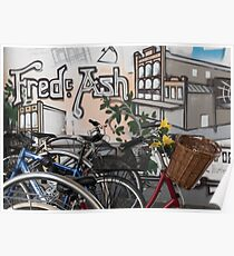 Street Art and Bicycles Poster