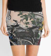 Street Art and Bicycles Mini Skirt