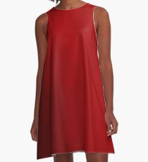Red Highway A-Line Dress