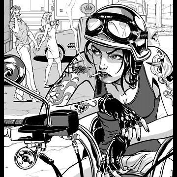 Biker Girl by DanielBDemented