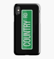 009 Country Road streets sign iPhone Case/Skin