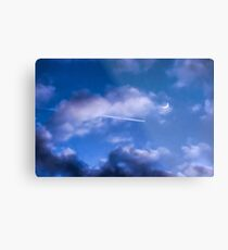 Jet-Setting the New Moon Metal Print