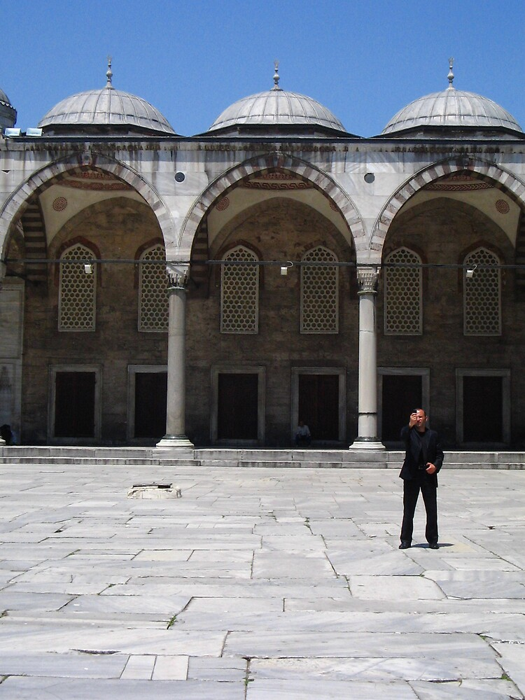 Blue Mosque Businessman by colllapse