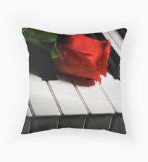 Keyboard romance Throw Pillow