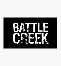 Battle Creek - White Photographic Print