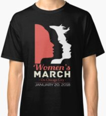 women's march chicago city 2018 Classic T-Shirt