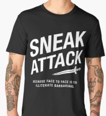 Rogue Sneak Attack Illiterate Barbarians - DnD Gaming Men's Premium T-Shirt