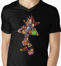 Crash Bandicoot  Men's V-Neck T-Shirt