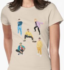 PRETTYMUCH ALL MEMBERS Women's Fitted T-Shirt