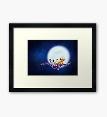 Simba and Wizzer, on a magic carpet ride Framed Print
