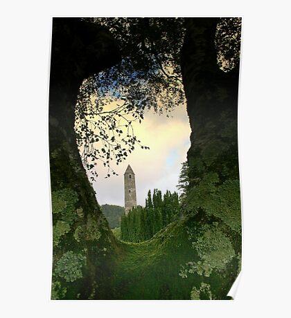 Glendalough view Poster