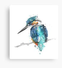 Watercolour Kingfisher Canvas Print