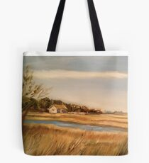 Captain Charlie's Boat House Tote Bag