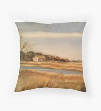 Captain Charlie's Boat House Throw Pillow