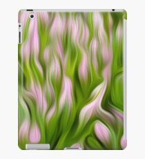 Mauve tulips abstract. Oil paint effect iPad Case/Skin