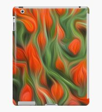 Orange tulips abstract. Oil paint effect iPad Case/Skin