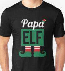 Papa Elf Funny Christmas Matching Family Design Unisex T-Shirt