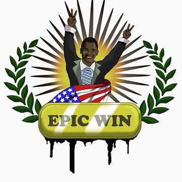 Obama epic win by Miart