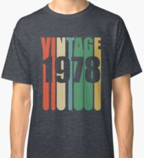 40th Birthday Retro Design - Vintage 1978 Classic T-Shirt