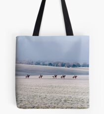 frosty horses Tote Bag
