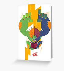 Blanka Street Fighter Greeting Card