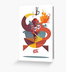 Dhalsim Street Fighter Greeting Card