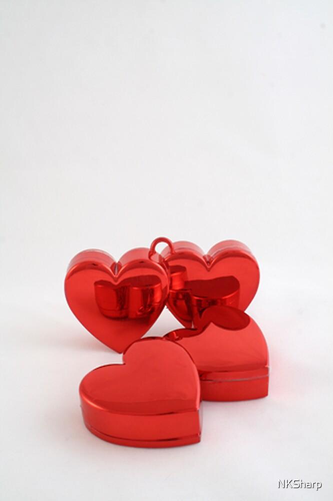 Red lovehearts by NKSharp