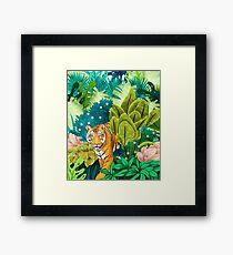 Lámina enmarcada Jungle Tiger