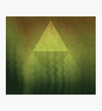The Triforce of Courage Photographic Print