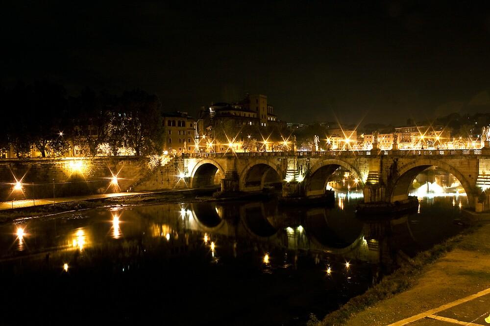 bridge over the river tiber by MrTim