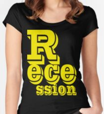 recession yellow Women's Fitted Scoop T-Shirt