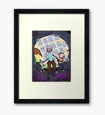 Rick y Morty Framed Print
