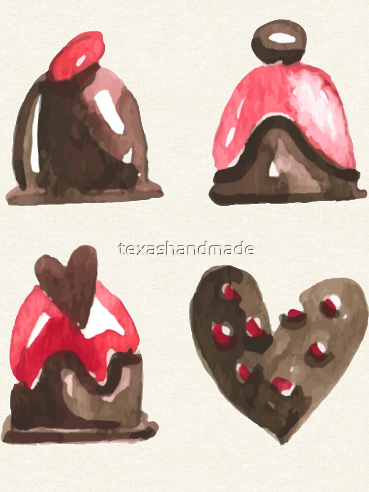 Valentines Day Chocolates Tshirt and more by texashandmade