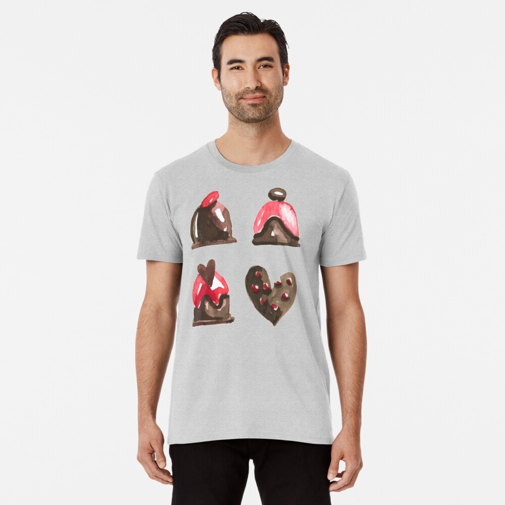 Valentines Day Chocolates Tshirt and more Premium T-Shirt