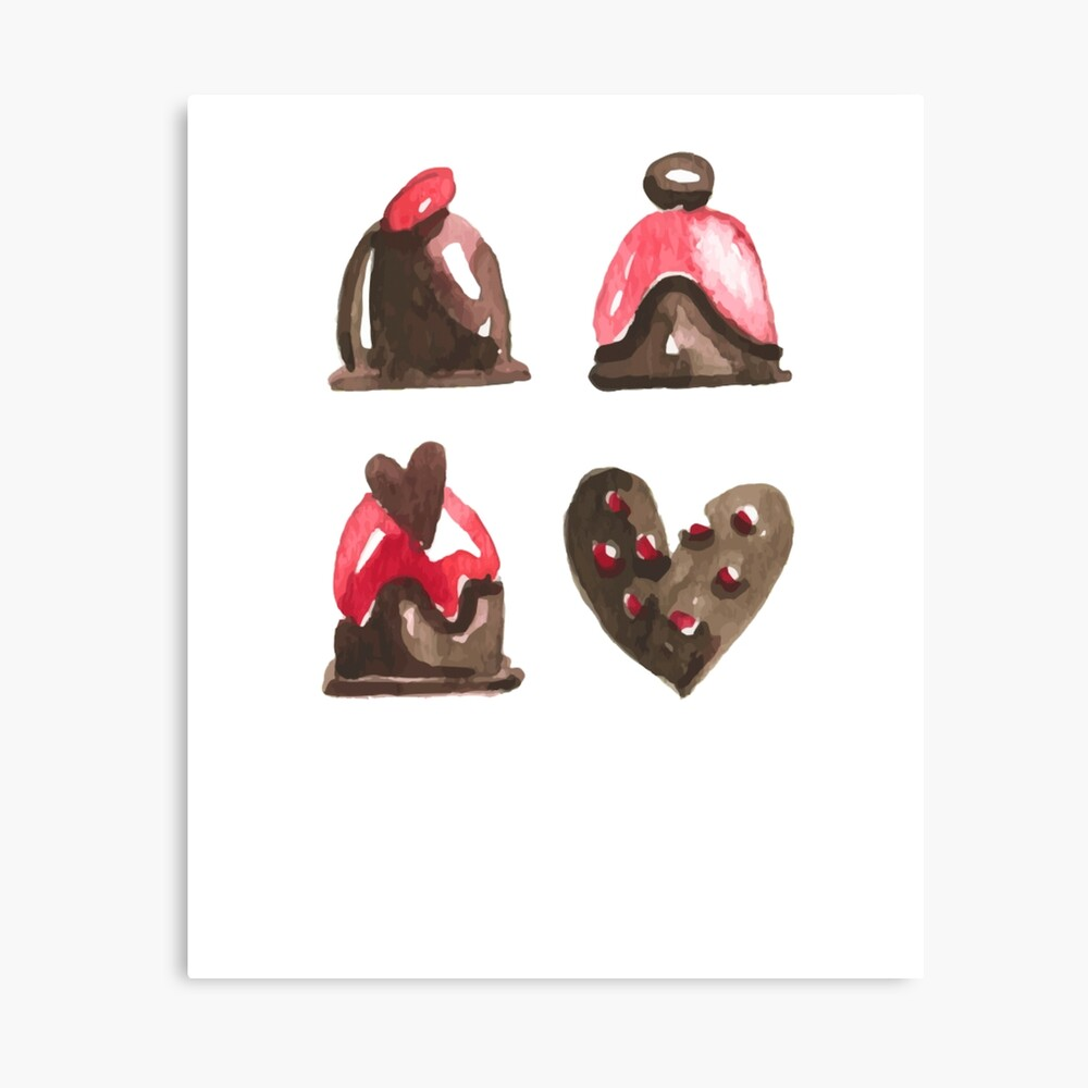 Valentines Day Chocolates Tshirt and more Canvas Print
