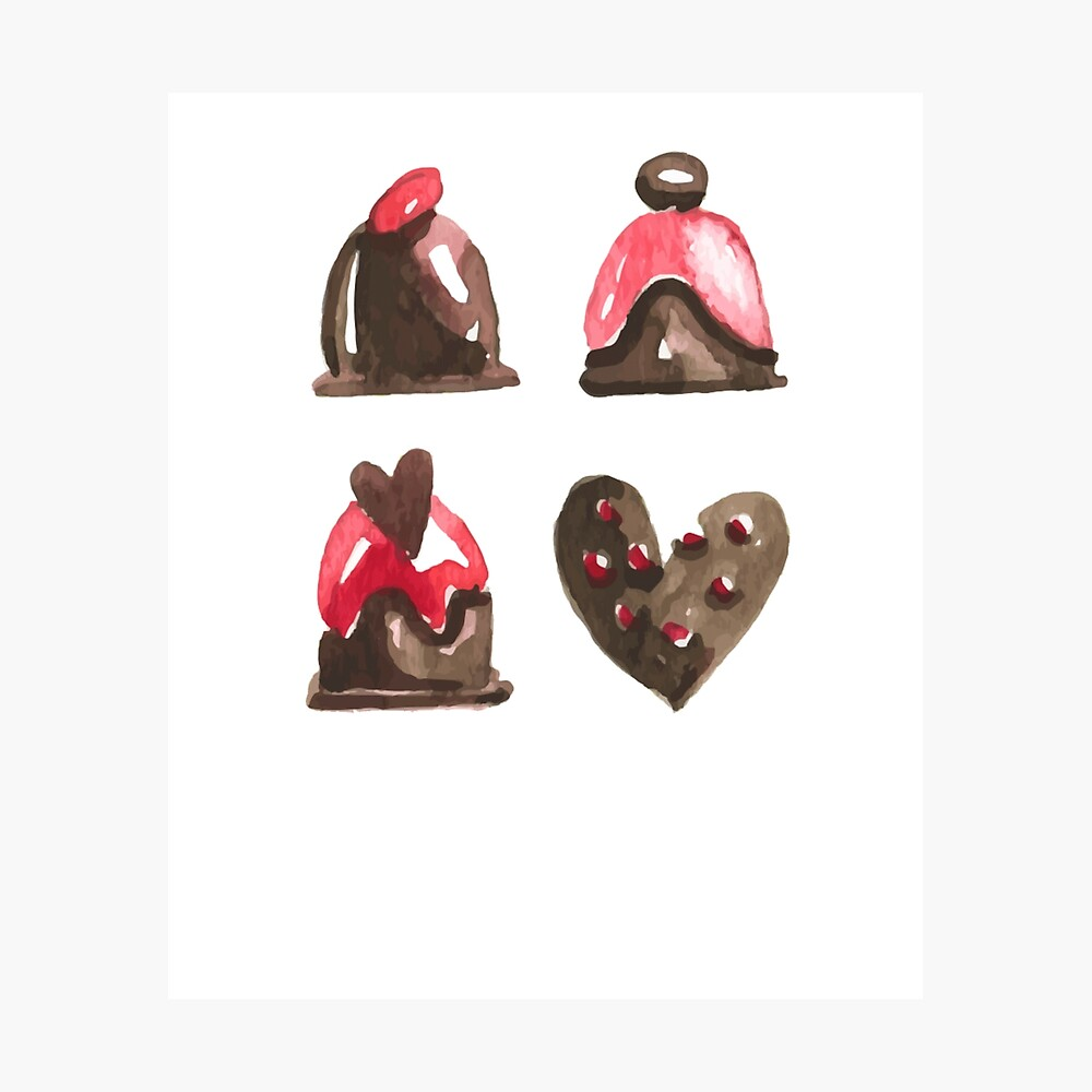 Valentines Day Chocolates Tshirt and more Photographic Print