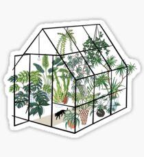 Gewächshaus mit Pflanzen Sticker