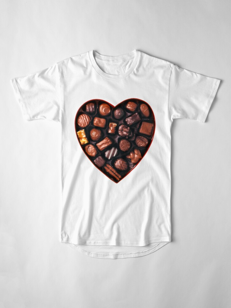 Alternate view of Valentines Day Chocolates Tshirt and more Long T-Shirt