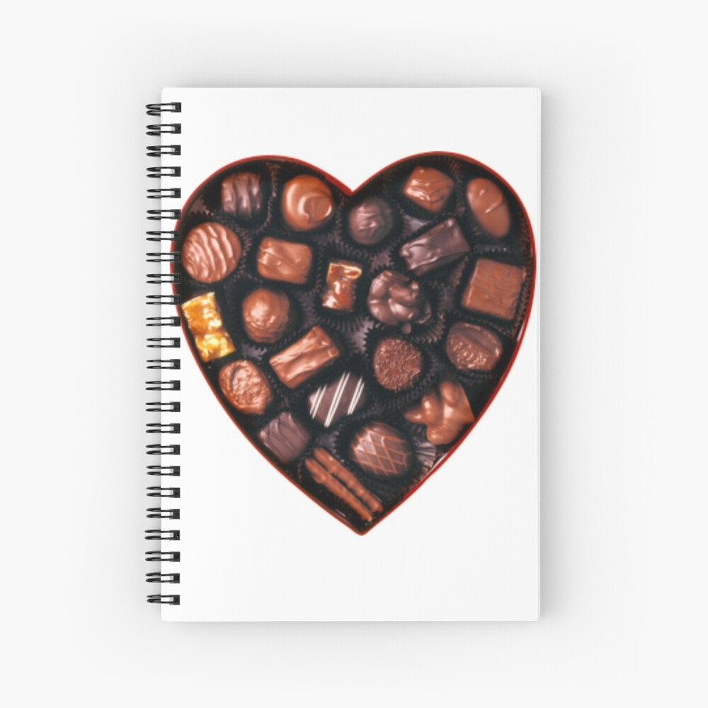 Valentines Day Chocolates Tshirt and more Spiral Notebook